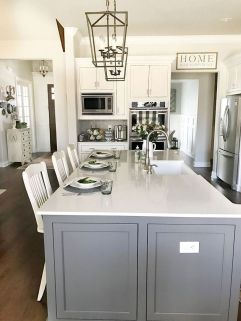 Easy grey and white kitchen backsplash ideas 24