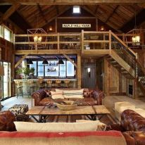 Easy rustic living room design ideas 15