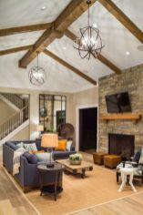 Easy rustic living room design ideas 17