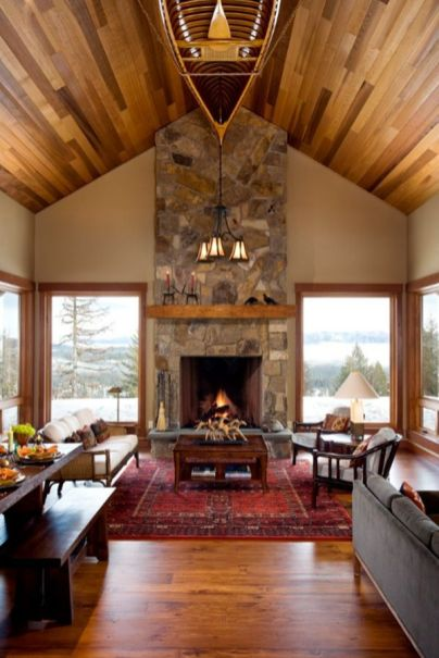Easy rustic living room design ideas 30
