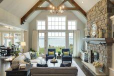 Easy rustic living room design ideas 32