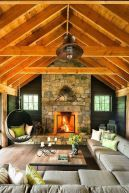 Easy rustic living room design ideas 37