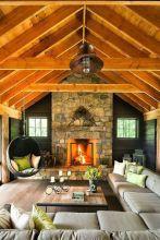 Easy rustic living room design ideas 37