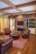 Easy rustic living room design ideas 44