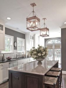 Elegant kitchen ideas with white cabinets 25