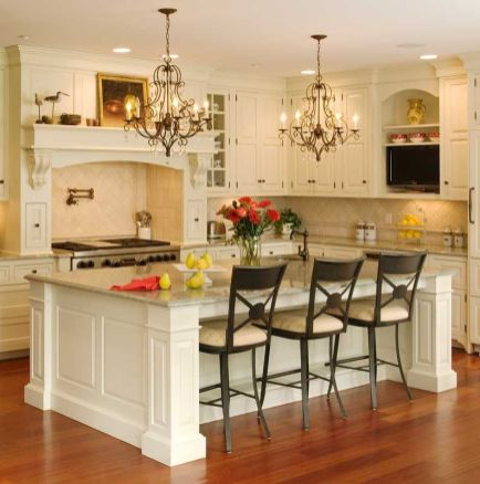 Elegant kitchen ideas with white cabinets 39