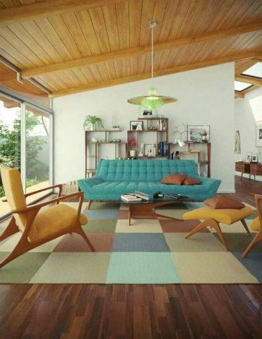 Elegant mid century living room furniture ideas 09