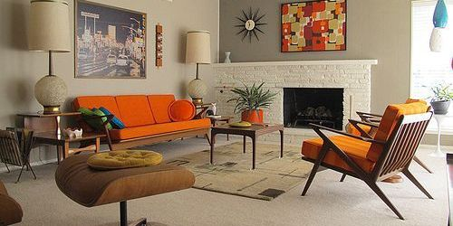 Elegant mid century living room furniture ideas 43