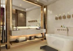 Lovely hotel bathroom design ideas that can be applied to your home 06