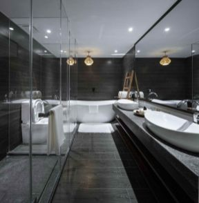 Lovely hotel bathroom design ideas that can be applied to your home 17