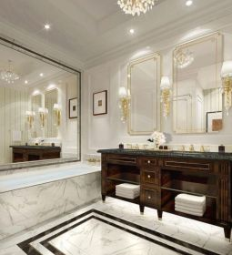Lovely hotel bathroom design ideas that can be applied to your home 21