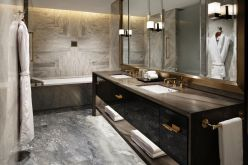 Lovely hotel bathroom design ideas that can be applied to your home 34