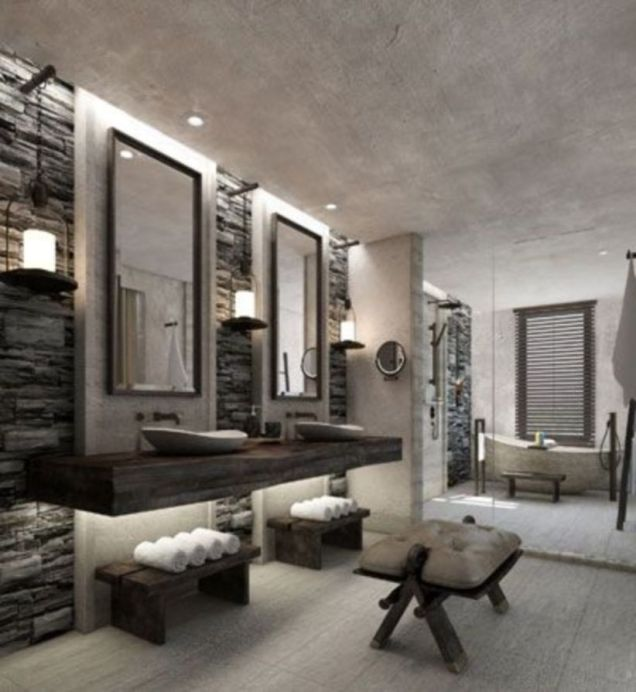 Lovely hotel bathroom design ideas that can be applied to your home 44