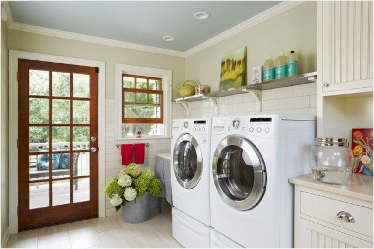 Stunning laundry room decor ideas 35