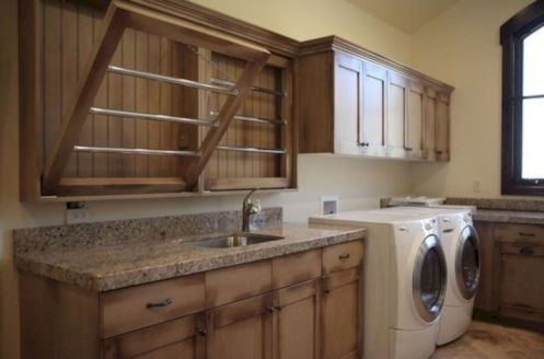 Stylish cabinets for laundry room 04