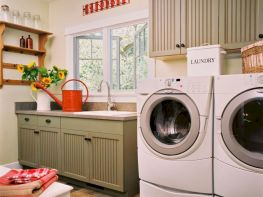 Stylish cabinets for laundry room 10