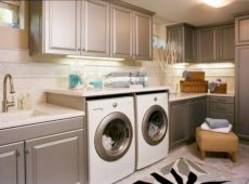 Stylish cabinets for laundry room 11