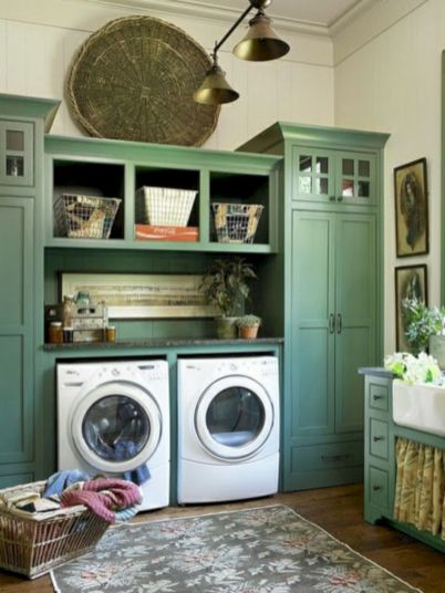 Stylish cabinets for laundry room 13