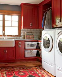 Stylish cabinets for laundry room 18