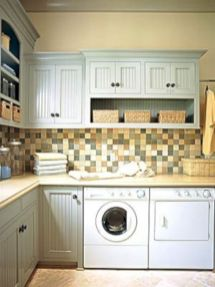 Totally inspiring laundry room wall cabinets ideas 08
