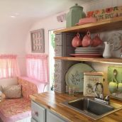 Antique diy camper interior remodel ideas you can try right now 07