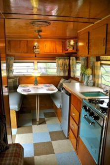 Antique diy camper interior remodel ideas you can try right now 41