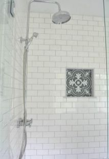 Awesome farmhouse shower tiles ideas 06