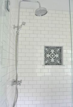 Awesome farmhouse shower tiles ideas 06