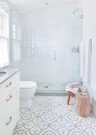 Awesome farmhouse shower tiles ideas 10