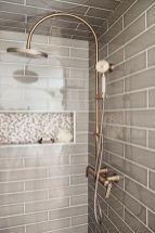 Awesome farmhouse shower tiles ideas 18