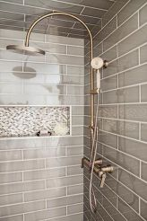 Awesome farmhouse shower tiles ideas 18