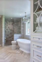 Awesome farmhouse shower tiles ideas 20