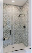 Awesome farmhouse shower tiles ideas 32