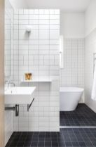 Awesome farmhouse shower tiles ideas 33