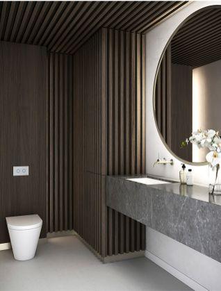 Best ideas how to creating minimalist bathroom 45