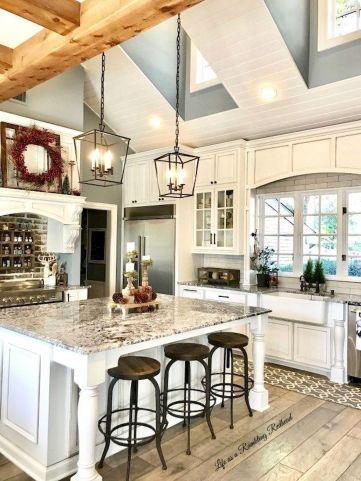 Brilliant rustic farmhouse kitchen cabinets remodel ideas 08