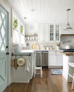 Brilliant rustic farmhouse kitchen cabinets remodel ideas 16
