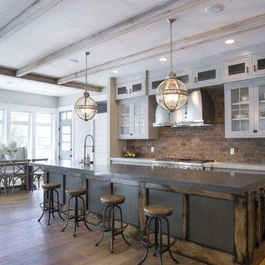 Brilliant rustic farmhouse kitchen cabinets remodel ideas 20