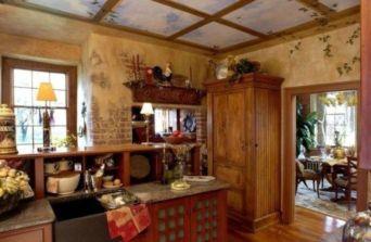 Brilliant rustic farmhouse kitchen cabinets remodel ideas 28