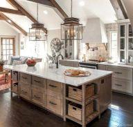 Brilliant rustic farmhouse kitchen cabinets remodel ideas 30