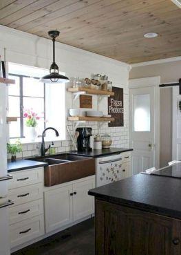 Cool farmhouse kitchen sink remodel ideas 34