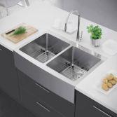 Cool farmhouse kitchen sink remodel ideas 35
