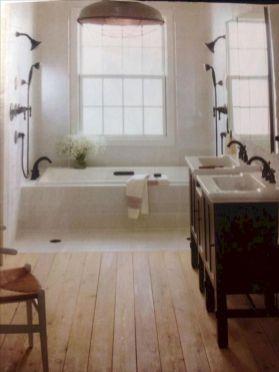 Cozy farmhouse bathroom makeover ideas 12