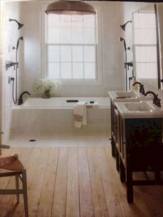 Cozy farmhouse bathroom makeover ideas 12