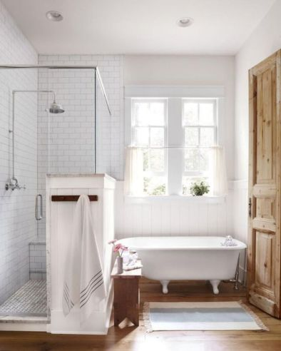 Cozy farmhouse bathroom makeover ideas 14