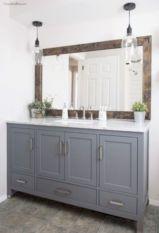 Cozy farmhouse bathroom makeover ideas 25