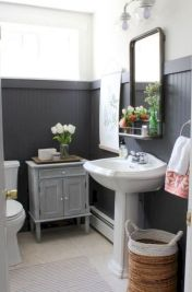 Cozy farmhouse bathroom makeover ideas 27