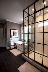 Cozy farmhouse bathroom makeover ideas 38