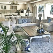 Fabulous farmhouse living room decor design ideas 01
