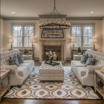 Fabulous farmhouse living room decor design ideas 02